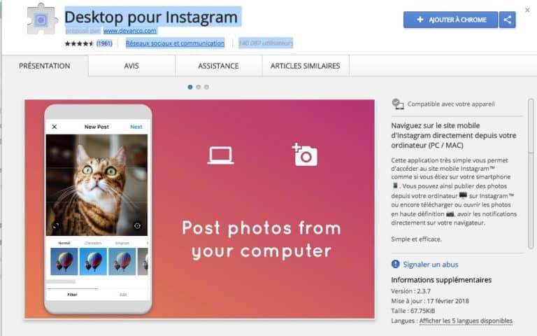 publier sur instagram depuis ordinateur - comundeclic